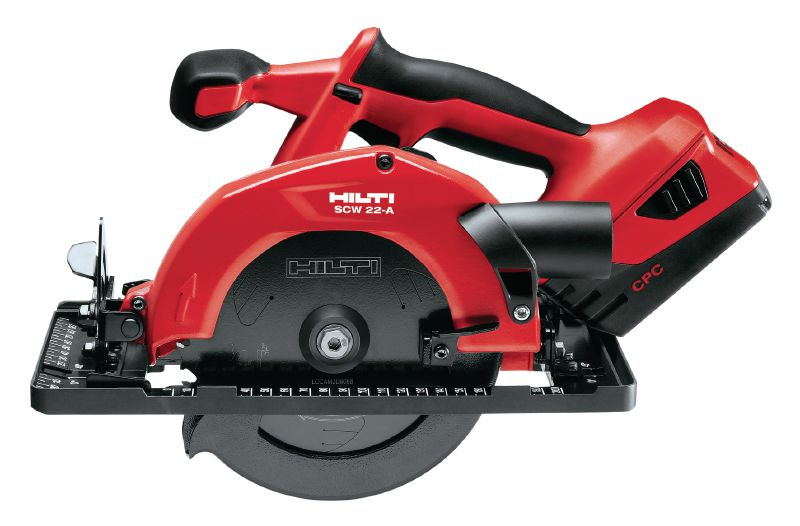 SCW 22-A 22V cordless circular saw featuring low weight, for cutting materials up to 57 mm thick