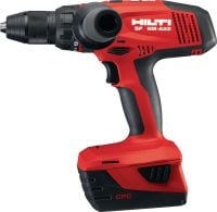 SF 8M-A22 Ultimate class 22V cordless drill driver with four-speed gearing and secure chuck for reduced drill bit slippage and high performance in metal drilling applications