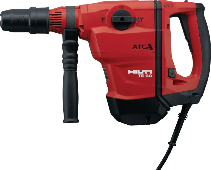 TE 60-ATC-AVR Versatile and powerful SDS Max (TE-Y) rotary hammer for concrete drilling and chiseling, with Active Vibration Reduction (AVR) and Active Torque Control (ATC)