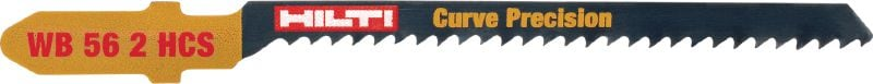 Basic precise curved wood cutting Basic jig saw blade for economical, precise curve cutting in wood