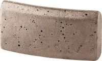 P-U abrasive (mm) Standard diamond segment for coring with all tools in all types of concrete