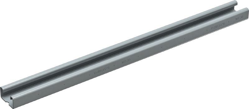 MT-30 OC Strut channel (outdoor) Punched and slotted strut channel with corrosion-resistant coating