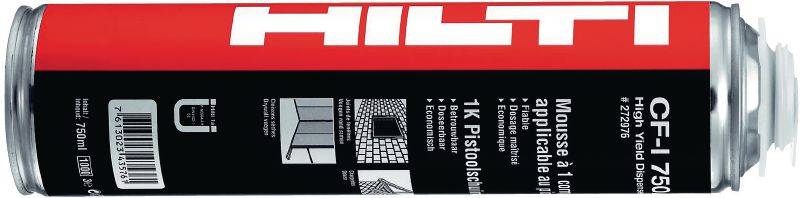 CF-I 750 universal insulating foam Universal foam for air-sealing, filling and insulating joints, gaps and cracks