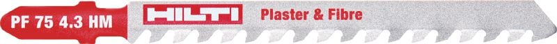 Plaster & fibre Ultimate jig saw blade for fast cutting in plaster and cement boards as well as reinforced plastics